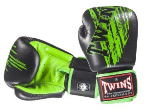 RĘKAWICE BOKSERSKIE TWINS FBGV-TW2 (black/green palm)