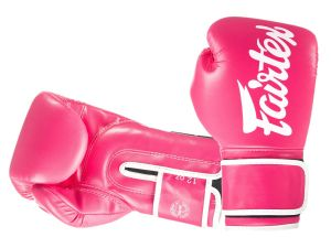 "RĘKAWICE BOKSERSKIE FAIRTEX BGV14 (pink/white piping) ""Microfiber"""