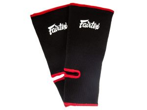 ŚCIĄGACZ NA STOPĘ FAIRTEX AS1 (black/red piping) PARA - 2SZT