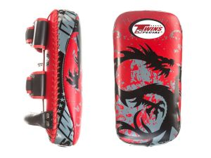 "TARCZE TAJSKIE ""PAO"" TWINS ​FKPL-36  red/black_side ""TRIBAL DRAGON"" - PARA - 2SZT"