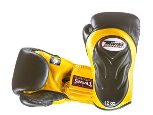 RĘKAWICE BOKSERSKIE TWINS BGVL-6 (black/yellow palm)