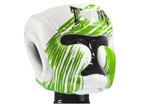 KASK BOKSERSKI SPARINGOWY TWINS SPECIAL FHG-TW2 (white/green)