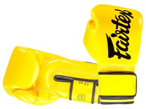 "RĘKAWICE BOKSERSKIE FAIRTEX BGV14 (yellow) ""Microfiber"""