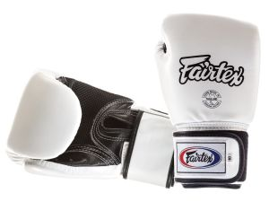 RĘKAWICE BOKSERSKIE FAIRTEX BGV1-B (white/black) breathable