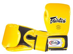 RĘKAWICE BOKSERSKIE FAIRTEX BGV1-B (yellow) breathable