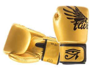 "RĘKAWICE BOKSERSKIE FAIRTEX BGV1 (gold/black) Falcon ""Limited Edition Gloves"" BOX"