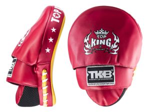 "TARCZE BOKSERSKIE TOP KING TKFMS ""SUPER"" (red/yellow) - PARA - 2SZT"