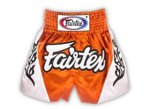 SPODENKI TAJSKIE FAIRTEX BS0649 (orange/white)