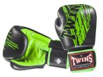 RĘKAWICE BOKSERSKIE TWINS SPECIAL FBGV-TW2 (black/green palm)