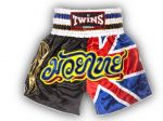 "SPODENKI TAJSKIE TWINS SPECIAL TWS-850  (black/white/red/blue) ""United Kingdom"""