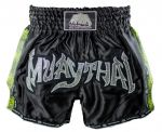 "SPODENKI TAJSKIE MAD MUAY THAI MDR-008 (black/green_snake) ""SNAKE"""