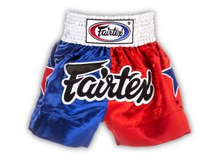 "SPODENKI TAJSKIE FAIRTEX BS110 (blue/red) ""Patriot Limited Collection"""