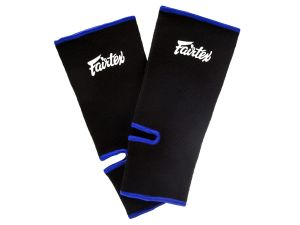 ŚCIĄGACZ NA STOPĘ FAIRTEX AS1 (black/blue piping) PARA - 2SZT