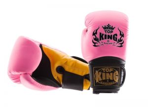"RĘKAWICE BOKSERSKIE TOP KING TKBGSA ""SUPER AIR"" (562) (pink/black/yellow)"