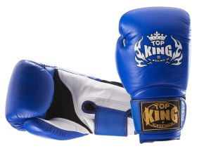 "RĘKAWICE BOKSERSKIE TOP KING TKBGSA ""SUPER AIR"" (144) (blue/white)"