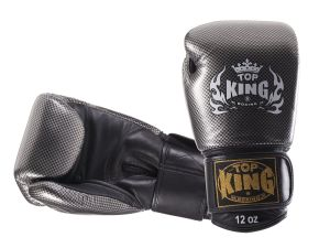 "RĘKAWICE BOKSERSKIE TOP KING TKBGEM-02SV ""EMPOWER CREATIVITY"" (black/silver)"