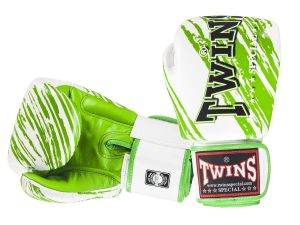 RĘKAWICE BOKSERSKIE TWINS SPECIAL FBGV-TW3 (white/green palm)