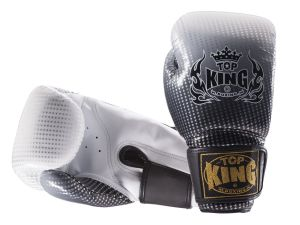 "RĘKAWICE BOKSERSKIE TOP KING TKBGSS-01SV ""SUPER STAR AIR"" (black/silver)"