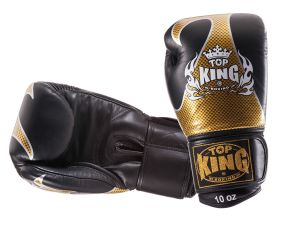 "RĘKAWICE BOKSERSKIE TOP KING TKBGEM-01GD ""EMPOWER CREATIVITY"" (black/gold)"