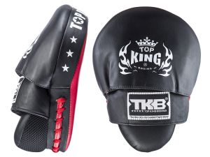 "TARCZE BOKSERSKIE TOP KING TKFMS ""SUPER"" (black/red) - PARA - 2SZT"
