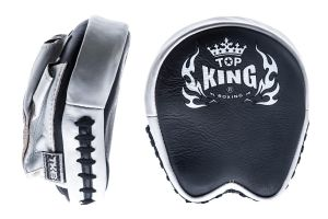 "TARCZE BOKSERSKIE TOP KING TKFMP ""PROFESSIONAL"" (black/white) - PARA - 2SZT"