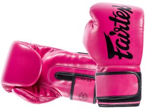 "RĘKAWICE BOKSERSKIE FAIRTEX BGV14 (pink/black piping) ""Microfiber"""