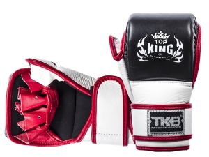 "RĘKAWICE MMA TOP KING TKGGC ""Combat"" (321) (black/white/red)"