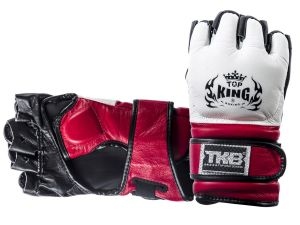 "RĘKAWICE MMA TOP KING TKGGE ""EXTREME"" (213) (white/red/black)"