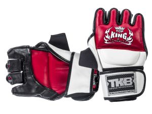 "RĘKAWICE MMA TOP KING TKGGU ""Ultimate"" (231) (red/white/black)"