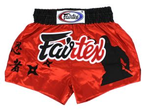 "SPODENKI TAJSKIE FAIRTEX BS0638 (red/black) ""Ninja"""