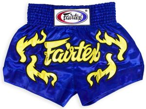 SPODENKI TAJSKIE FAIRTEX BS0664 (blue/gold)