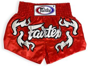 SPODENKI TAJSKIE FAIRTEX BS0665 (red/silver)
