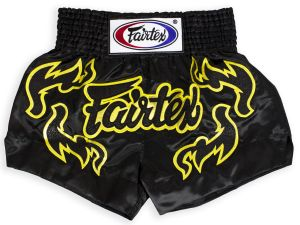 SPODENKI TAJSKIE FAIRTEX BS0666 (black/gold)