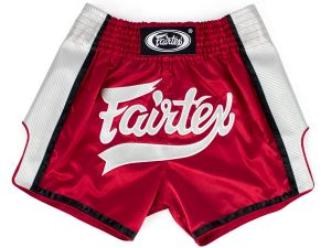 SPODENKI TAJSKIE FAIRTEX BS1704 (red/white)