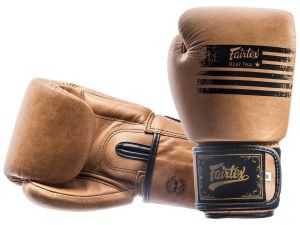 "RĘKAWICE BOKSERSKIE FAIRTEX BGV21 (raw brown) ""Legacy"""
