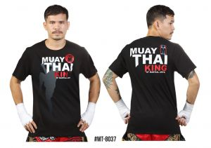 "KOSZULKA MUAY THAI MT-8037 ""KING OF MARTIAL ARTS""  - bawełna ECO"