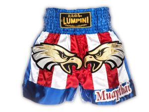 "SPODENKI TAJSKIE LUMPINEE LSH116 (white/red/blue) ""EAGLE"""