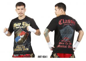 "KOSZULKA MUAY THAI MT-8041 ""Spirit of Fight"" - bawełna ECO"