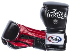 "RĘKAWICE BOKSERSKIE FAIRTEX BGV9 (black/red palm) ""Mexican Style"""