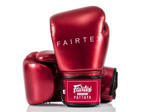 RĘKAWICE BOKSERSKIE FAIRTEX BGV22 (metallic red) + torba