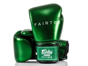 RĘKAWICE BOKSERSKIE FAIRTEX BGV22 (metallic green) + torba