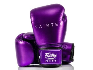 RĘKAWICE BOKSERSKIE FAIRTEX BGV22 (metallic purple) + torba