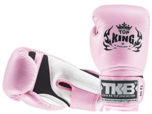 "RĘKAWICE BOKSERSKIE TOP KING TKBGSA ""SUPER AIR"" (166) (white/pink/pink)"