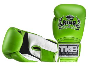 "RĘKAWICE BOKSERSKIE TOP KING TKBGSA ""SUPER AIR"" (177) (white/green/green)"