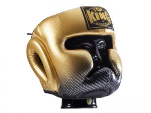 "KASK BOKSERSKI SPARINGOWY TOP KING TKHGSS-01GD ""SUPER STAR"" (gold)"
