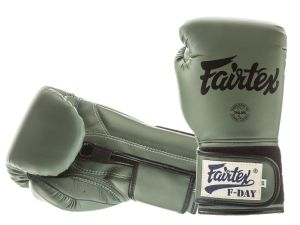 "RĘKAWICE BOKSERSKIE FAIRTEX BGV11 (green) ""F-Day"" BOX"