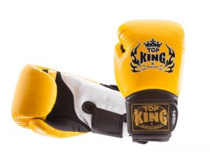 "RĘKAWICE BOKSERSKIE TOP KING TKBGSA ""SUPER AIR"" (152) (yellow/black/white)"