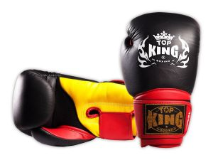"RĘKAWICE BOKSERSKIE TOP KING TKBGSA ""SUPER AIR"" (523) (black/red/yellow)"