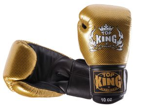 "RĘKAWICE BOKSERSKIE TOP KING TKBGEM-02GD ""EMPOWER CREATIVITY"" (black/gold)"