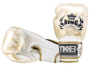 "RĘKAWICE BOKSERSKIE TOP KING TKBGSS-02WH_GD ""SUPER STAR SNAKE"" (white/gold)"